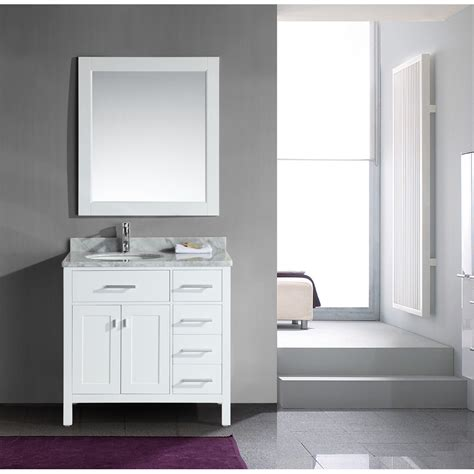 bathroom on the right design element london 36 quot single vanity with drawers on