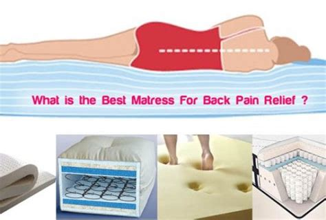 best mattress for back relief see which one best for