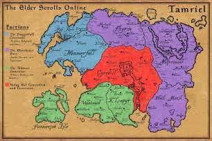 Elder Scrolls Online World Map by The Elder Scrolls Online