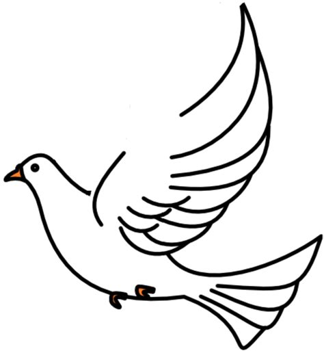Small Dove Outline by Doves Free Images At Clker Vector Clip Royalty Free Domain