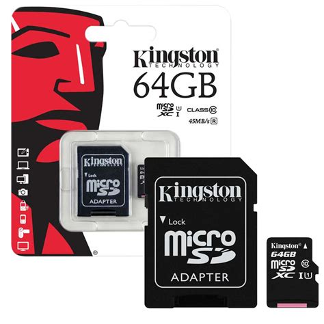 Micro Sd Card 64gb 64gb kingston micro sd sdxc memory card class 10 45mb s inc sd card adapter 64gb ebay