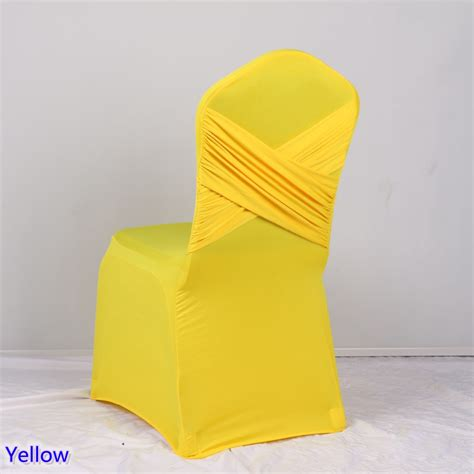 Yellow Chair Covers by Yellow Colour Universal Lycra Chair Covers Two Cross