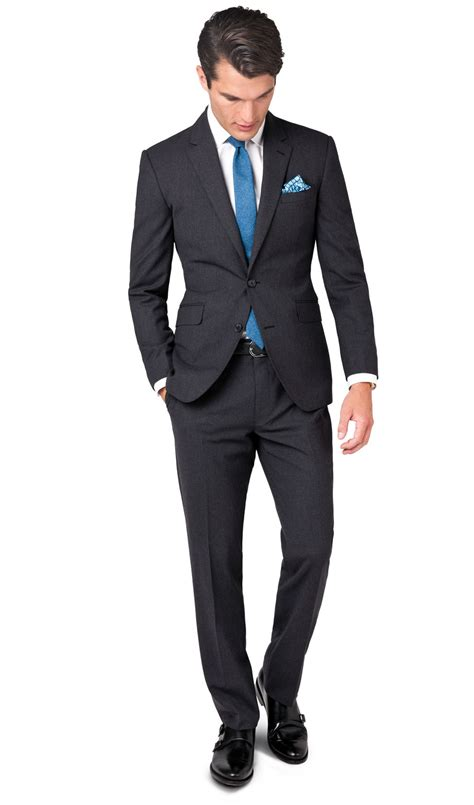 in suit woolwich charcoal slim fit infinity suit t m lewin