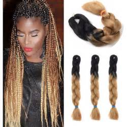 kanekalon and human hair tangles aliexpress com buy 3pcs lot black brown ombre kanekalon
