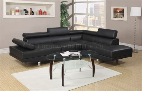 Rc Willey Bedroom Sets f7310 sectional sofa by boss in black leatherette