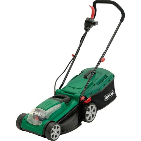 qualcast motor mowers qualcast 1600w electric rotary lawn mower 37cm