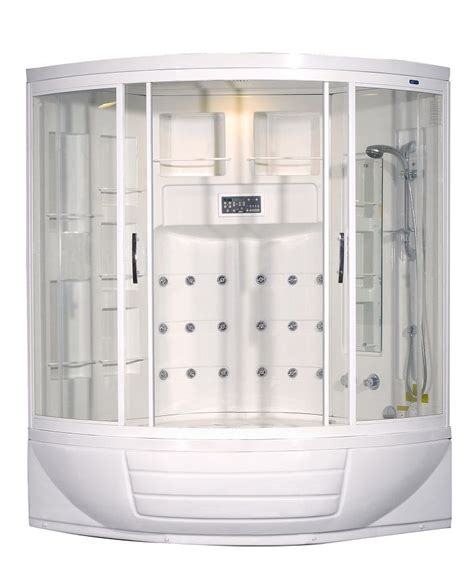 56 Inch Bathtub by Aston 56 Inch X 56 Inch X 87 Inch Corner Steam Shower Enclosure Kit With Whirlpool Tub With 18