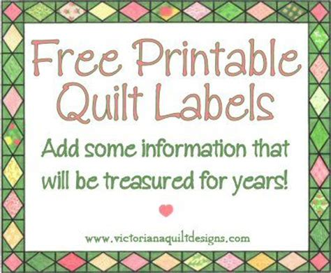 Free Quilt Labels by 25 Best Ideas About Quilt Labels On Easy