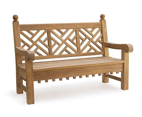 chinoiserie bench chiswick 5ft teak chippendale bench teak chinoiserie bench