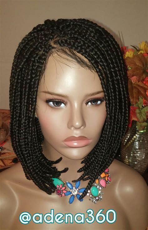 Braided Hairstyles Wigs by Braided Bob Lacefront Wig Medium 183 Adena360 183