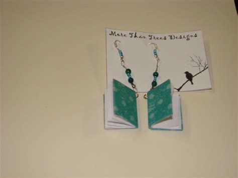mini book earrings 183 how to make a pair of book earrings
