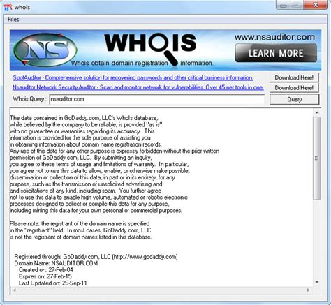Whois Ip Lookup Whois Obtain Domain Registration Information