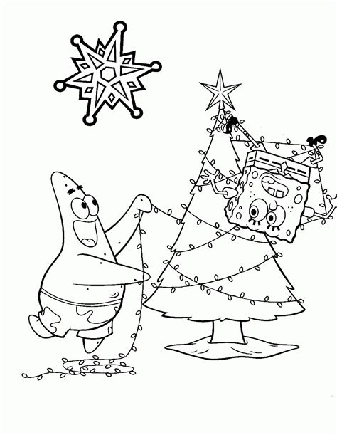 spongebob christmas coloring pages free printable spongebob christmas coloring pages free printable az
