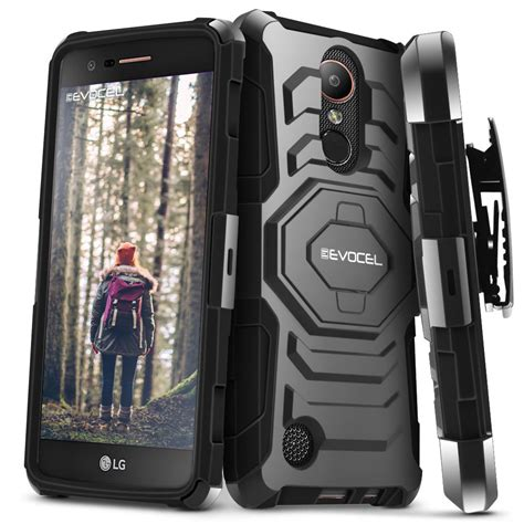 Stand Holster Belt Clip Lg K10dual Armor Future Hyb 602 lg k20 plus lg k10 2017 dual layer holster with kickstand belt clip ebay