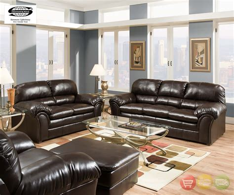 simmons living room furniture riverside vintage brown plush bonded leather living room