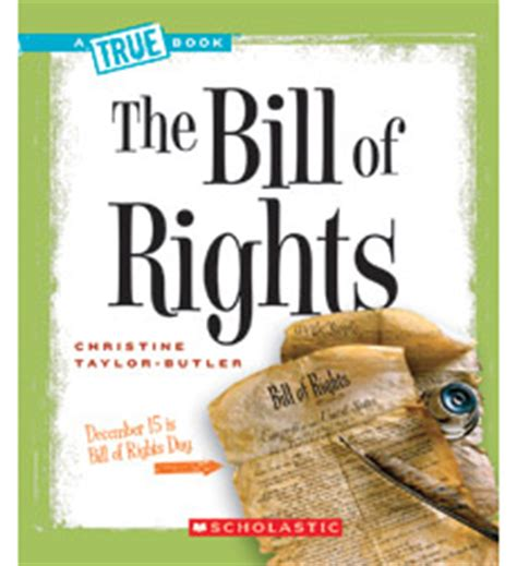 bill of rights picture book product a true book american history the bill of rights