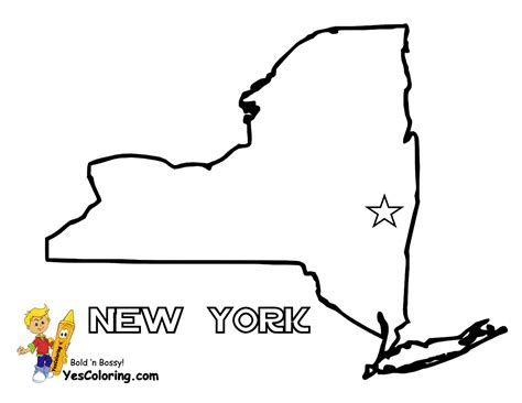printable map new york state state of new york coloring map to print out at yescoloring