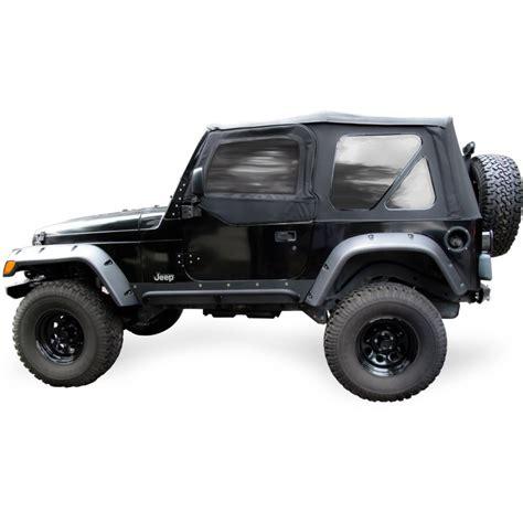 97 Jeep 2 Door Jeep Wrangler Soft Top Tinted Windows Black W