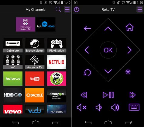 roku app android roku tv with the free roku mobile app for android ios and windows phones the official