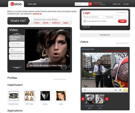 Bebo Search For Bebo Homepage Image Image Search Results