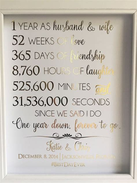 Wedding Anniversary Quotes One Year by The 25 Best 1st Anniversary Gifts Ideas On