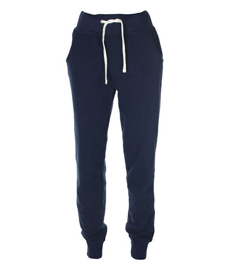 bench joggers bench the slim cuff jogging bottoms in blue navy lyst