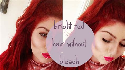 bright red hair tutorial no bleach bright red hair loreal majicontrast tutorial