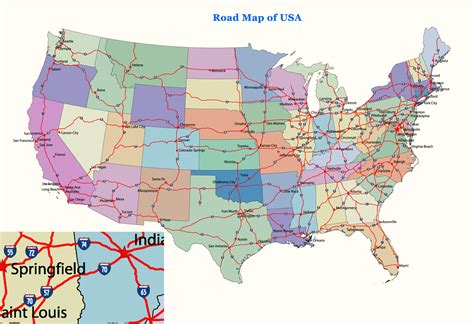 usa map for driving us map
