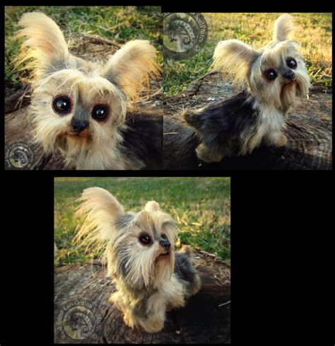 made yorkies sold made poseable yorkie by wood splitter on deviantart