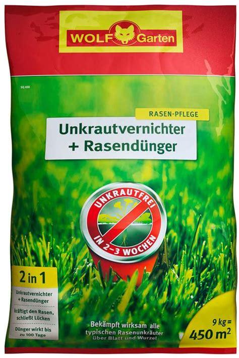 Wolf Rasendünger Mit Unkrautvernichter 19 by Wolf Garten Sq450 Unkrautvernichter Rasend 252 Nger F 252 R 450