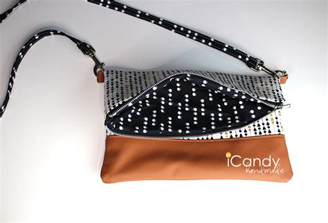 Icandy Handmade - diy foldover clutch with shoulder icandy handmade