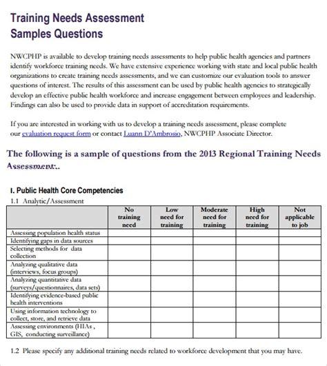 training  assessment    documents