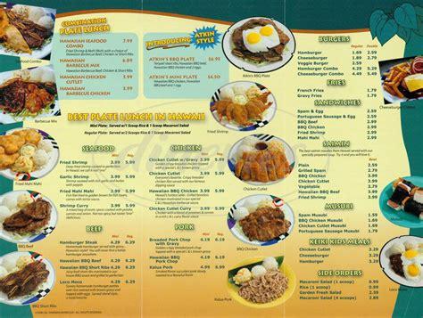 The L Menu l l hawaiian barbecue menu alameda dineries