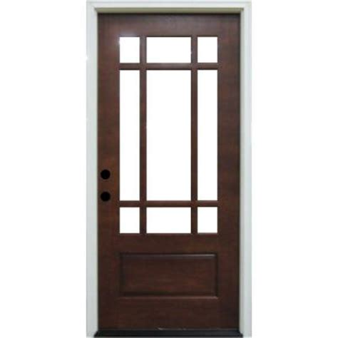 Prefinished Exterior Doors Steves Sons Craftsman 9 Lite Prefinished Mahogany Wood Prehung Front Door Discontinued