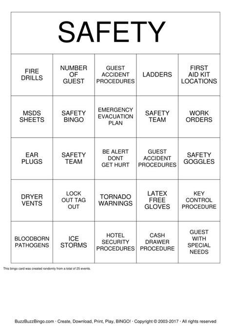 safety bingo template safety bingo 2 bingo cards to print and customize