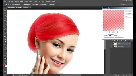 change hair color  photoshop cs youtube