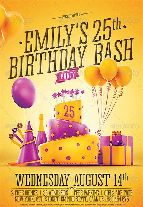 happy birthday flyer template 17 best images about beautifully designed psd birthday