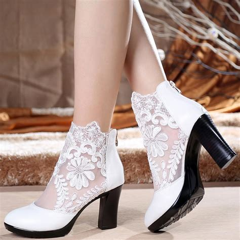 white wedding boots white lace wedding boots chinaprices net