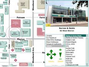 Wayne State University Campus Map by Eateries Now Available On Campus Map Web Communications