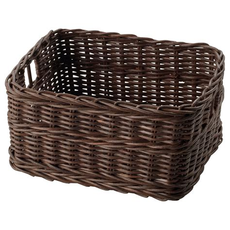 ikea baskets gabbig basket dark brown 25x29x15 cm ikea