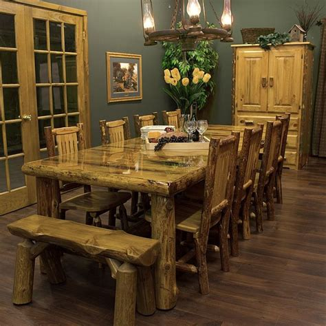 Log Cabin Dining Room Furniture | 17 best ideas about log furniture on pinterest log