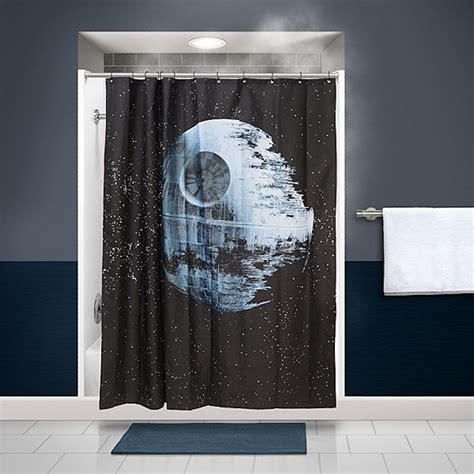 shower curtain with stars star wars death star shower curtain exists for the diehard