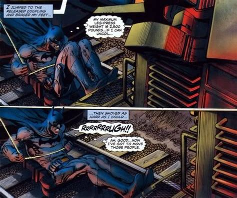 how much can batman bench batman is not a super hero page 9