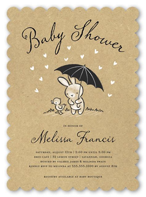 Styles For Home Decor by Bunny Shower 5x7 Photo Baby Shower Invitations Shutterfly