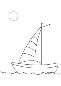 Free Coloring Pages Of Simple Drawing Boat sketch template