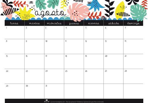 Calendario Agosto Calendario Agosto Mowobjetos