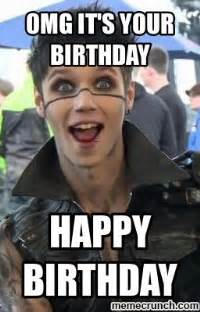 Black Birthday Meme - andy biersack happy birthday