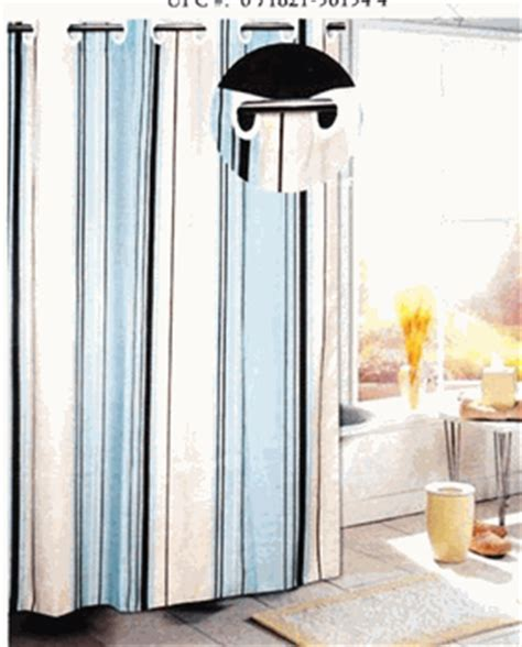 no hook shower curtains ez on blue stripes no hook fabric shower curtain with free