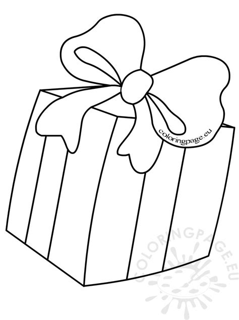 coloring page of gift box kids coloring pages gift box with bow coloring page of
