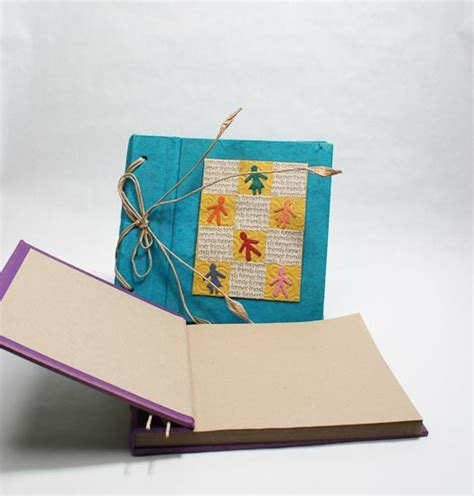 Handmade Paper Scrapbook - handmade paper crafted scrapbook photo album new items